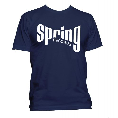 Spring Records '60s' T Shirt Navy [32]
