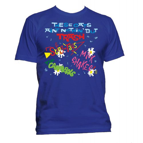 These Cats Ain't Nothin' But Trash T Shirt Royal Blue [51]