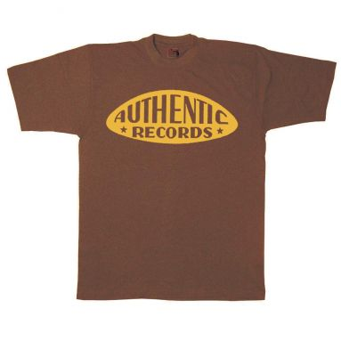 Authentic Records T Shirt Chestnut Brown