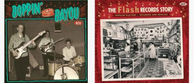Boppin' By the Bayou and Flash Records Story Sleeves
