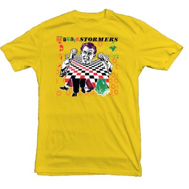 Brainstormers Kent Records LP T Shirt Daisy Yellow [98]