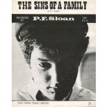 PF Sloan 'Sins Of A Family' songsheet courtesy of Sandy Massman
