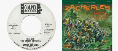Gamma Gooche 45 and John Zacherle LP