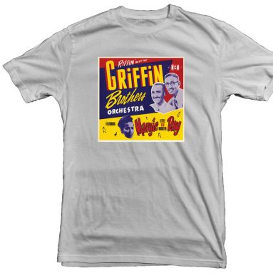 Griffin Brothers Orchestra LP T Shirt Ice Grey [23]