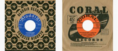 Lightnin Hopkins and Johnny Burnette 45s
