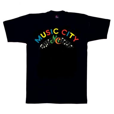 Music City Records M.C. T Shirt Black [36]
