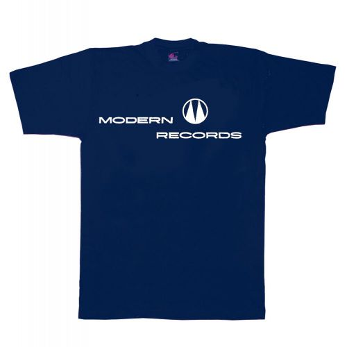 Modern Records T Shirt Navy Blue [32]