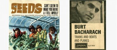 Seeds Picture Sleeve 45 and Burt Bacharach Trade Advert