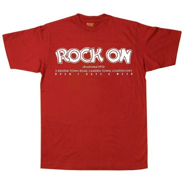 Rock On Records T Shirt Red [40]