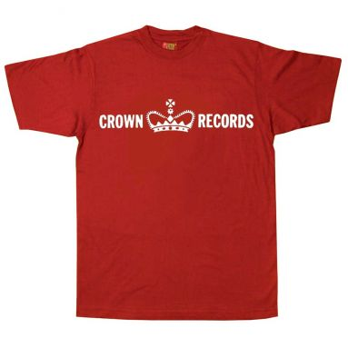 Crown Records T Shirt Cherry Red [40]