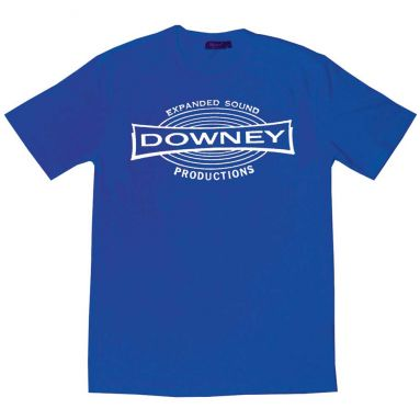 Downey Records T Shirt Royal Blue