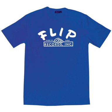 Flip Records T Shirt Royal Blue [51]
