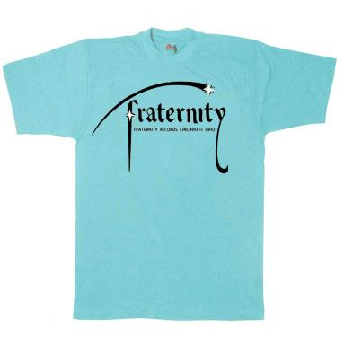 Fraternity Records T Shirt Light Blue [69]