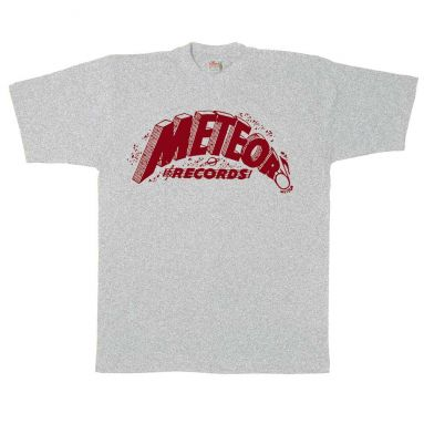 Meteor Records T Shirt Sport Grey [95]