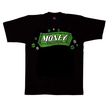 Money Records T Shirt Black [36]