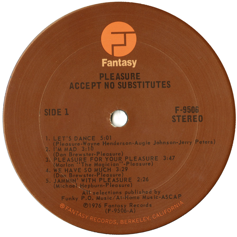 Pleasure Accept No Substitutes Ace Records