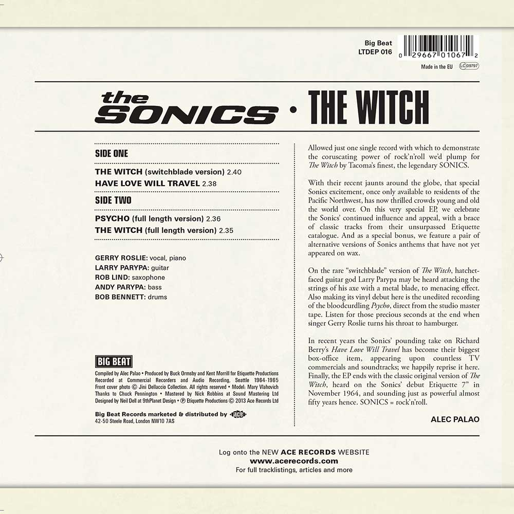 the sonics the witch have love will travel psycho